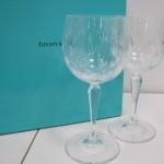 ティファニーフローレットペアワイングラス